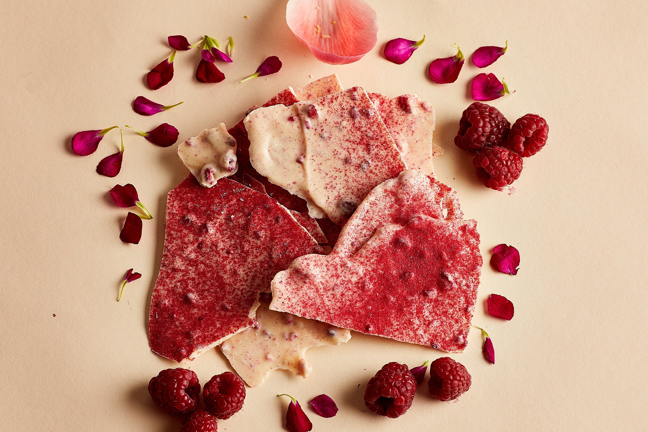 White Chocolate Raspberry Ripple Thins