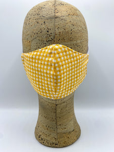 Gingham Collection in Sun cloth face mask