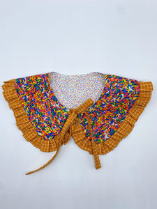 "Ruth Reversible Accent Collar in Land of Sweets Collection ""Ice Cream Cone"""