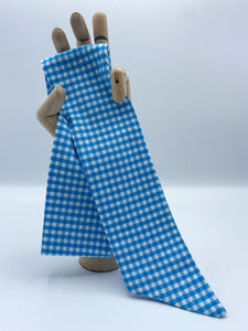 Mod Sash Self-Tie Wrap in Checked Out Collection Pool