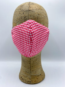 Gingham Collection in Tulip cloth face mask