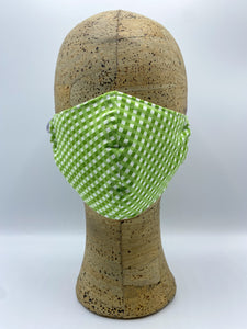 Gingham Collection in Sprout cloth face mask