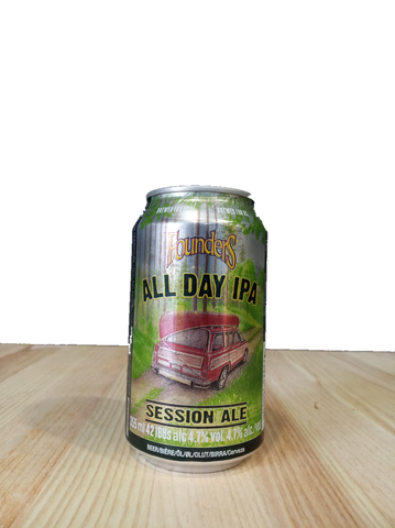 Cerveza artesanal All Day IPA elaborada por Founders Brewing Co.