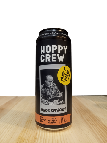 Cerveza artesanal Hoppy Crew: Who's the Boss? elaborada por Browar PINTA