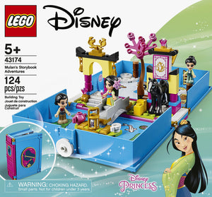 LEGO Disney Mulan's Storybook Adventures 43174 Mulan Toy Building Kit (124 Pieces) - Oneeque