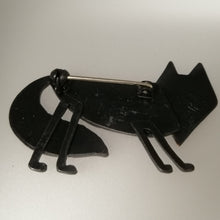 Load image into Gallery viewer, Fox brooch reverse view in a copper finish handmade by Sharon McSwiney