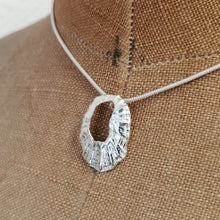 Load image into Gallery viewer, Marazion limpet shell necklace in sterling silver handmade by Sharon McSwiney