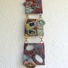 Load image into Gallery viewer, Mini metalwork wall panel with etched limpet designs by Sharon McSwiney