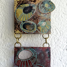 Load image into Gallery viewer, Mini metalwork wall panel detail with etched limpet designs by Sharon McSwiney
