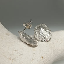 Load image into Gallery viewer, Sterling silver porthminster beach limpet stud earrings handmade by Sharon McSwiney