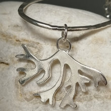 Load image into Gallery viewer, seaweed loop sterling silver long pendant necklace