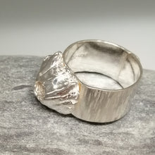 Load image into Gallery viewer, Handmade sterling silver barnacle ring by Sharon McSwiney, St Ives