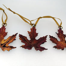 Load image into Gallery viewer, Acer leaf decoration in copper handmade by Sharon McSwiney