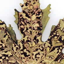 Load image into Gallery viewer, Extra Large Acer leaf decoration in brass Handmade by Sharon McSwiney