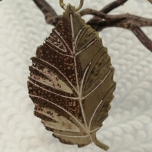 Load image into Gallery viewer, Small brass beech leaf decoration handmade by Sharon McSwiney
