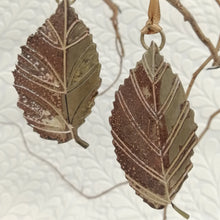 Load image into Gallery viewer, Small brass beech leaf decorations handmade by Sharon McSwiney
