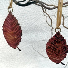 Load image into Gallery viewer, Beech leaf decoration in copper handmade by Sharon McSwiney