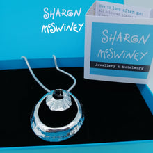 Load image into Gallery viewer, sterling silver double limpet pendant necklace by Sharon McSwiney in St Ives, Cornwall in gift box