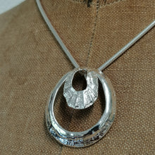 Load image into Gallery viewer, sterling silver double limpet pendant necklace by Sharon McSwiney in St Ives, Cornwall
