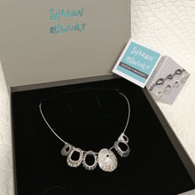 Load image into Gallery viewer, Multi limpet Cornish Coast sterling silver neck piece handmade by Sharon McSwiney giftboxed