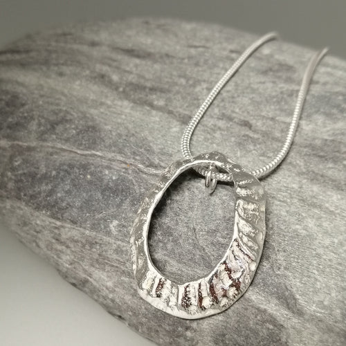 Large Marazion beach limpet necklace handmade by Sharon McSwiney St Ives