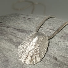 Load image into Gallery viewer, Porthminster beach sterling silver limpet shell necklace handmade by Sharon McSwiney