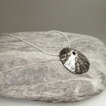 Load image into Gallery viewer, Oxidised silver Sennen Cove pendant necklace handmade by Sharon McSwiney, St Ives