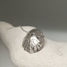 Load image into Gallery viewer, Sennen Cove limpet shell in sterling silver handmade pendant necklace by Sharon McSwiney