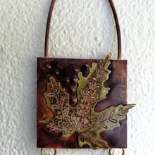 Load image into Gallery viewer, Mini metalwork leaf panel handmade by Sharon McSwiney