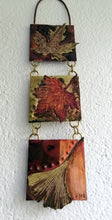 Load image into Gallery viewer, Mini panel with leaf decorations in copper & brass handmade by Sharon McSwiney