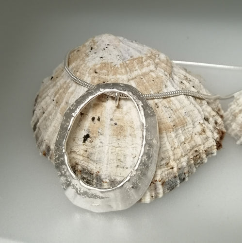 Mousehole limpet shell necklace in silver handmade by Sharon McSwiney