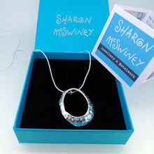 Load image into Gallery viewer, Mousehole limpet shell necklace in silver handmade by Sharon McSwiney in a gift box
