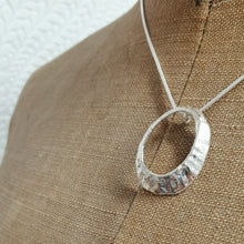 Load image into Gallery viewer, Mousehole limpet shell necklace in silver handmade by Sharon McSwiney