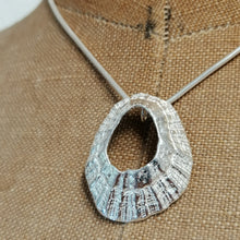Load image into Gallery viewer, A large sterling silver Godrevy limpet shell necklace handmade by Sharon McSwiney