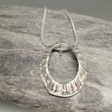 Load image into Gallery viewer, Large Marazion beach limpet silver necklace handmade by Sharon McSwiney St Ives