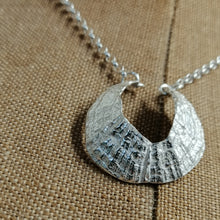Load image into Gallery viewer, St Ives Harbour silver limpet pendant necklace handmade by Sharon McSwiney