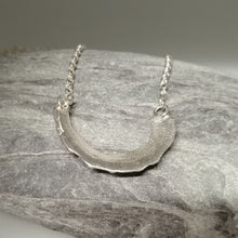 Load image into Gallery viewer, sterling silver limpet fragment necklace from St Ives handmade by Sharon McSwiney