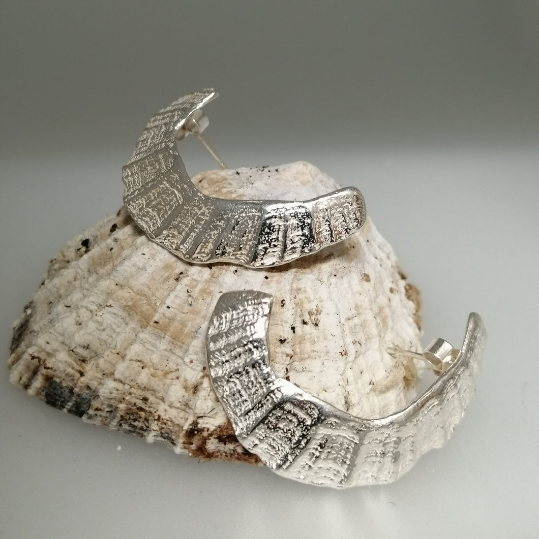 St Ives limpet fragment earrings