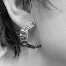 Load image into Gallery viewer, St Ives limpet fragment oxidised earrings
