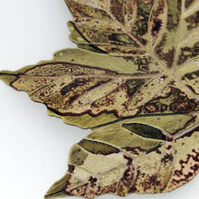 Load image into Gallery viewer, Large sycamore leaf decoration handmade by Sharon McSwiney