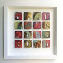 Load image into Gallery viewer, 16 Textured metalwork squares individually handmade by Sharon McSwiney