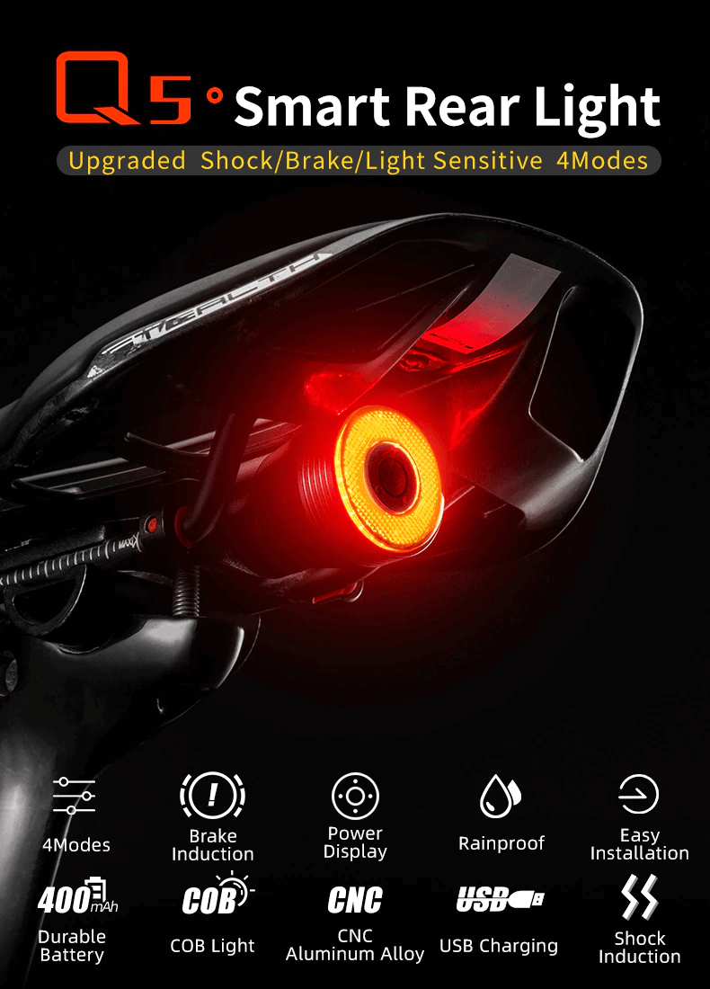 Bicycle Rear Red Light