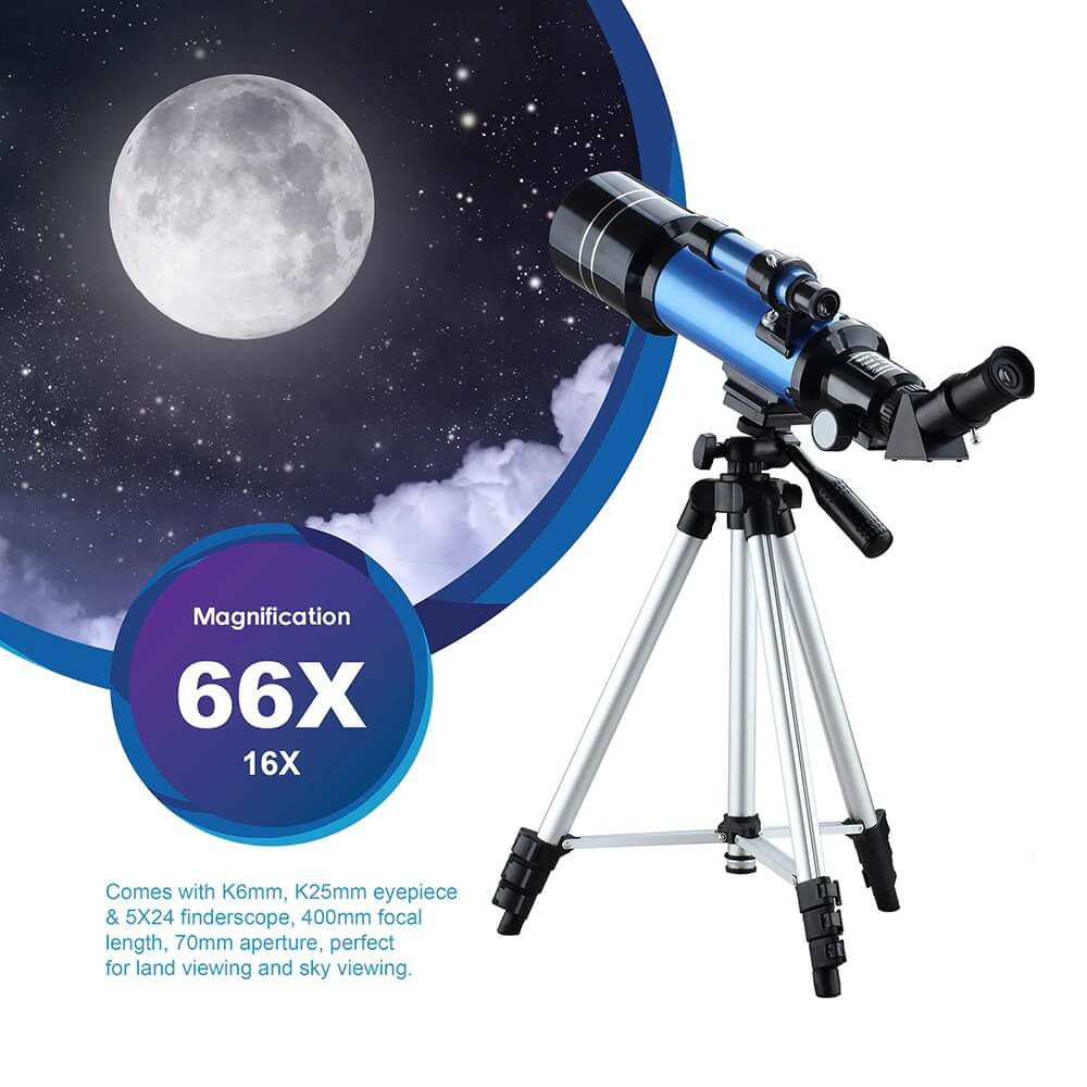 Astronomical And Terrestrial Telescope 300X Magnification
