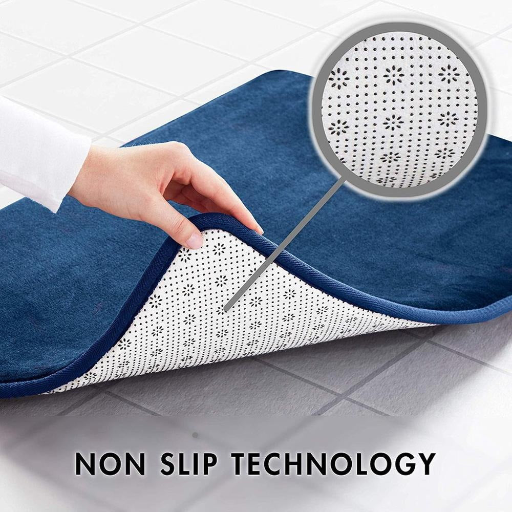 Microdry Memory Foam Hd Plush Bath Mat