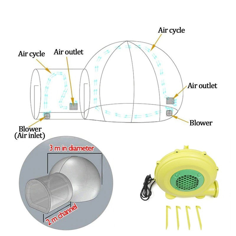 Pop Up Bubble Tent