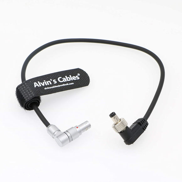 Alvin's Cables Z CAM E2 Camera Rotatable Right Angle Camera Power Cable 2 Pin For Atomos Shinobi Ninja V Monitor