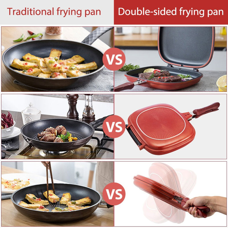 Double Sided Frying Pan – Steel Made Care