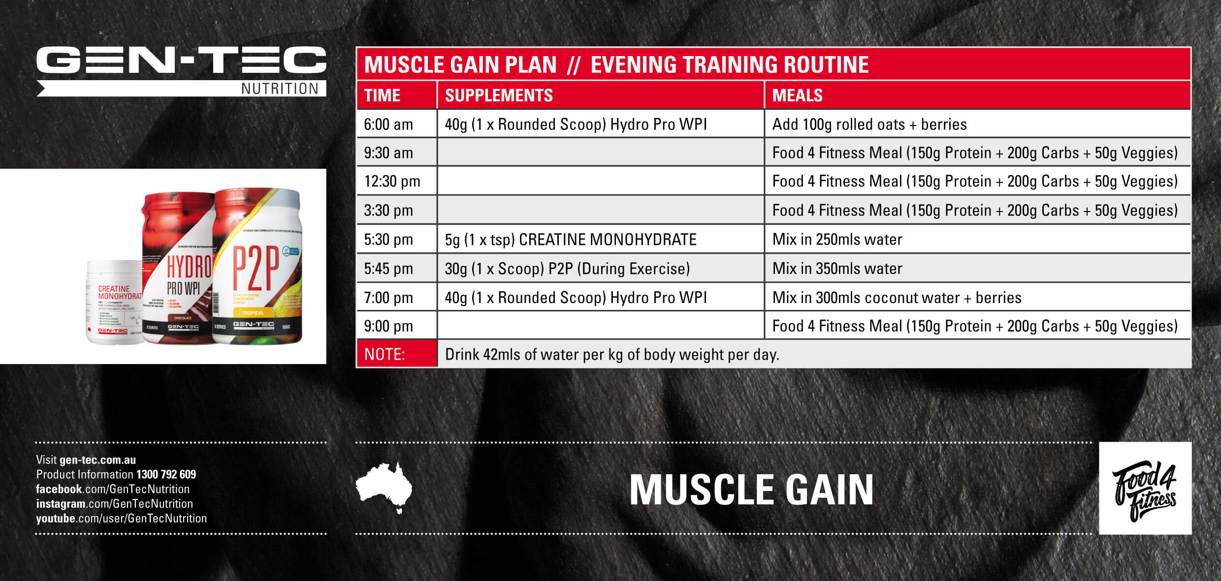 Muscle Gain Evening Training