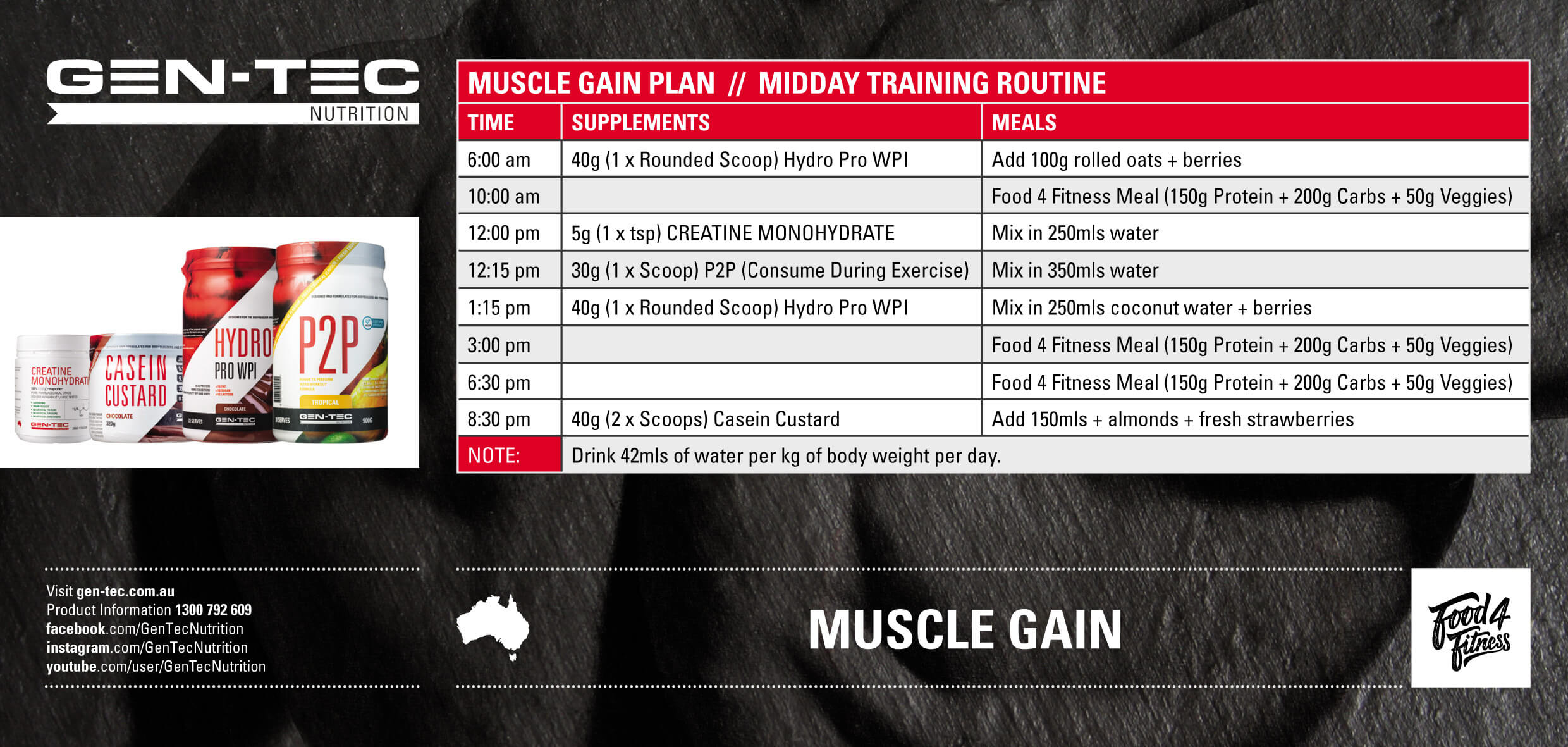 Muscle Gain Midday Training