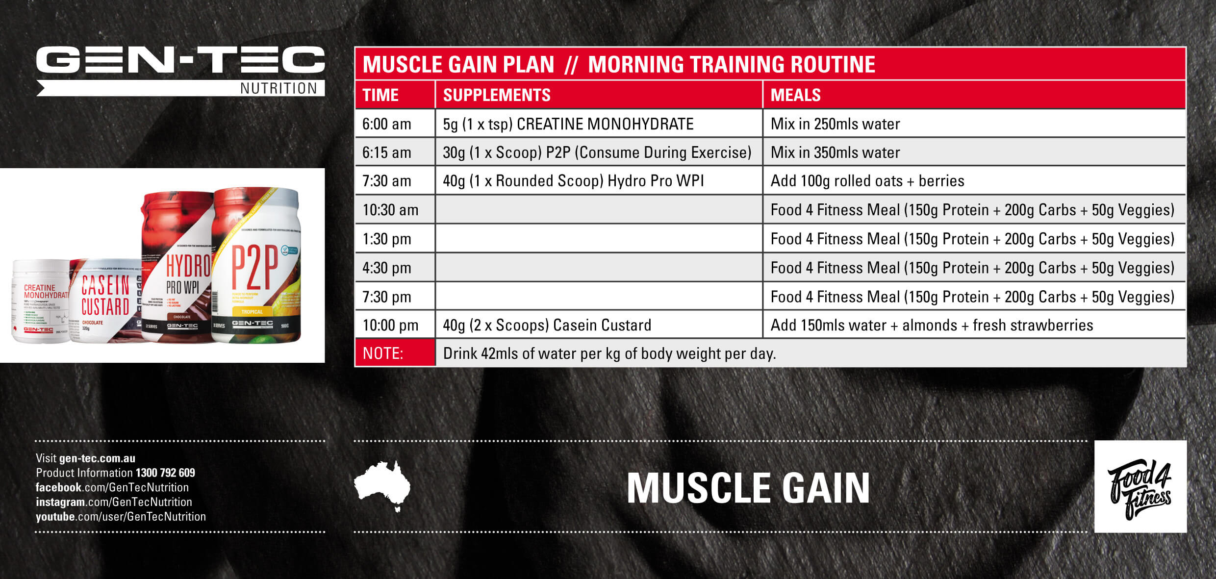 Muscle Gain Morning Training
